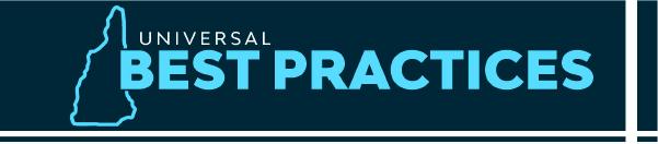 Universal Best Practices