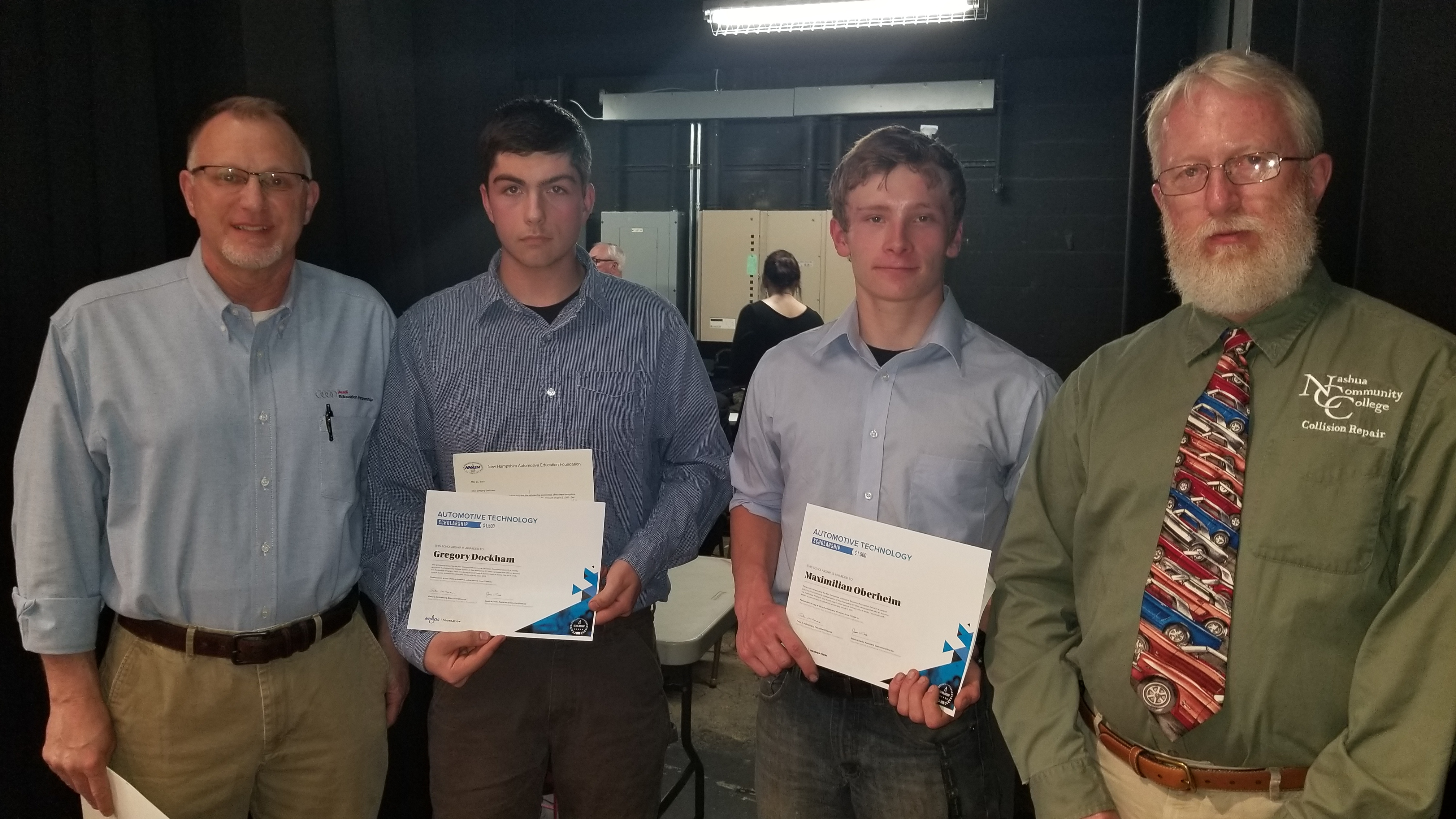 Gregory Dockham and Maximilian Oberheim Receive NHADA Foundation Automotive Technology Scholarship