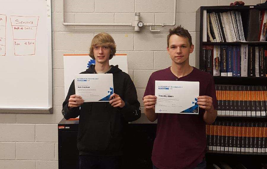 Pinkerton's Kyle Wojtkun and Timothy Hines Receive Automotive Technology Scholarships