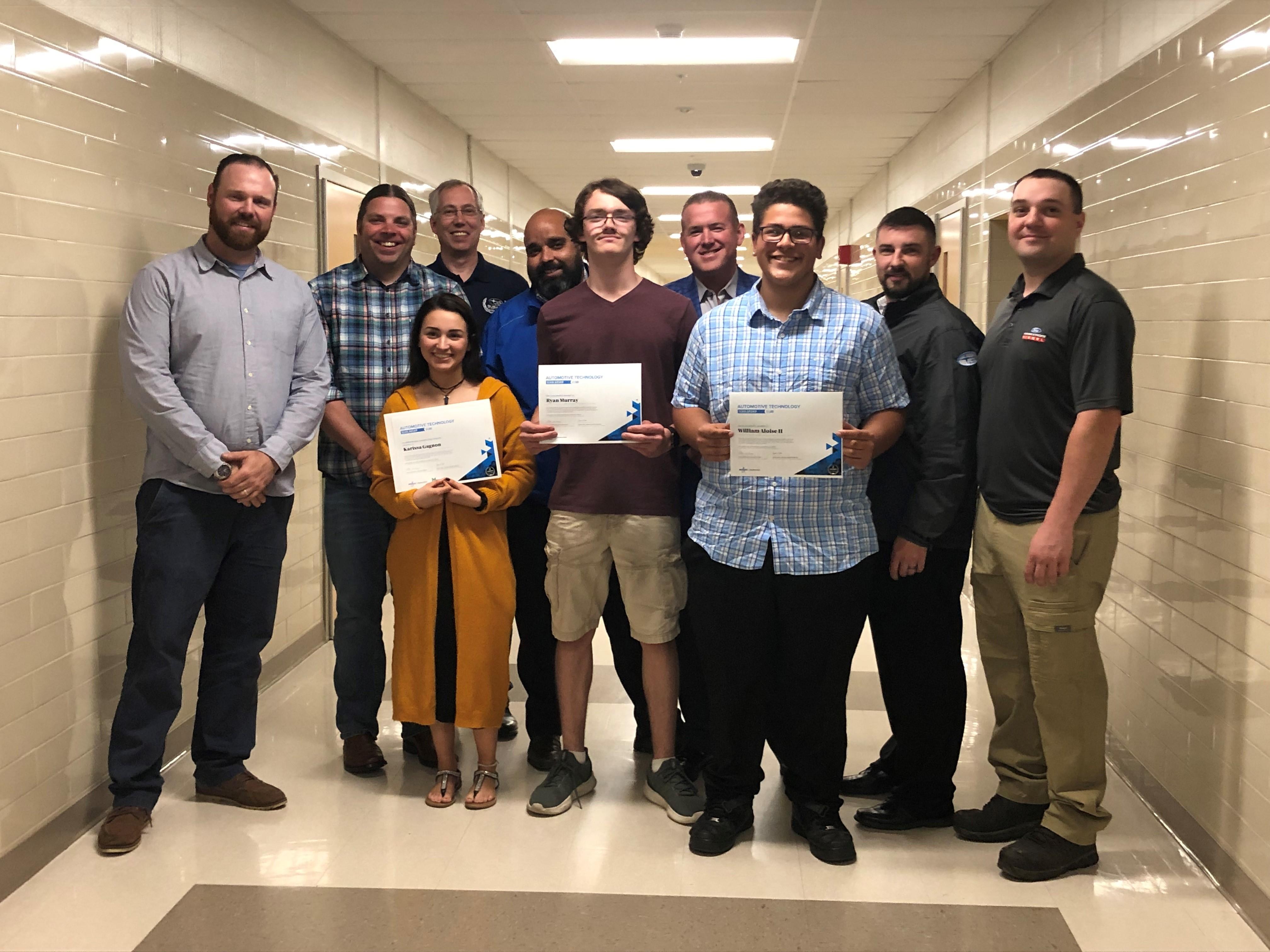 3 Salem Students are Awarded Automotive Technology Scholarships